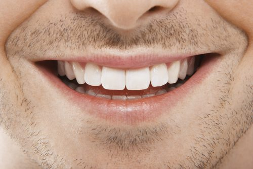 Man's Mouth Smiling